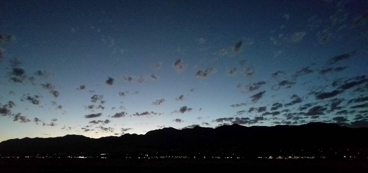 First light at Logan-Cache Valley Airport, Utah.